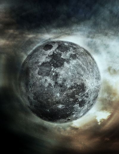 Moon Art Print by KunstFabrik_StaticMovement Manu Jobst | Society6
