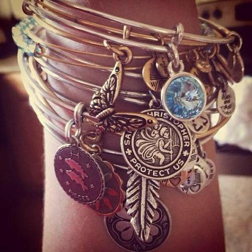 Alex and Ani 'Mother Mary' Wire Bangle on LoLoBu