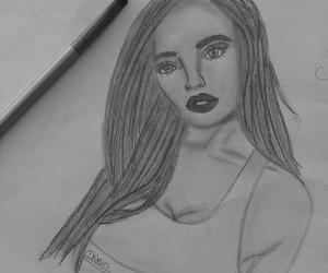 dibujo chica lÁpiz paint