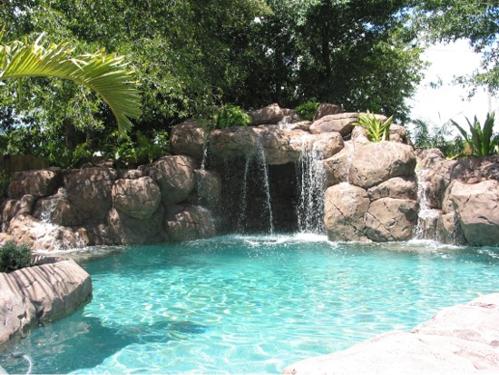 Beautiful Cool Pools With Waterfalls For Decorating Ideas