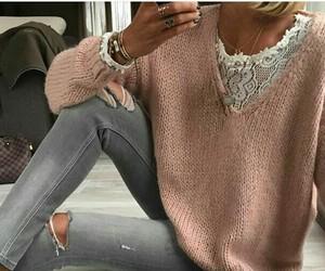 sweter jeans grey roza