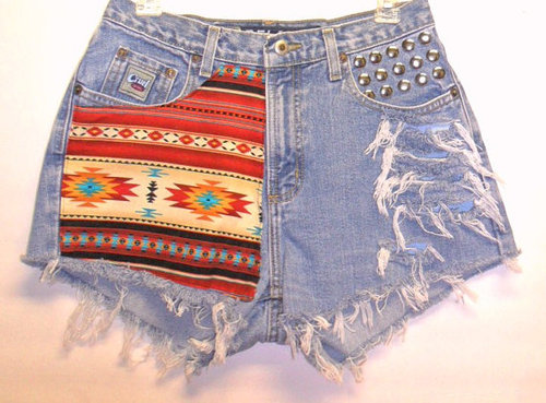 Cruel GIRL High Waist Denim Shorts by Turnupthevolume on Etsy