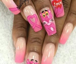 nails nailart pink panter