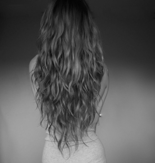 black and white, girl, hair, nadia esra - inspiring picture on Favim.com