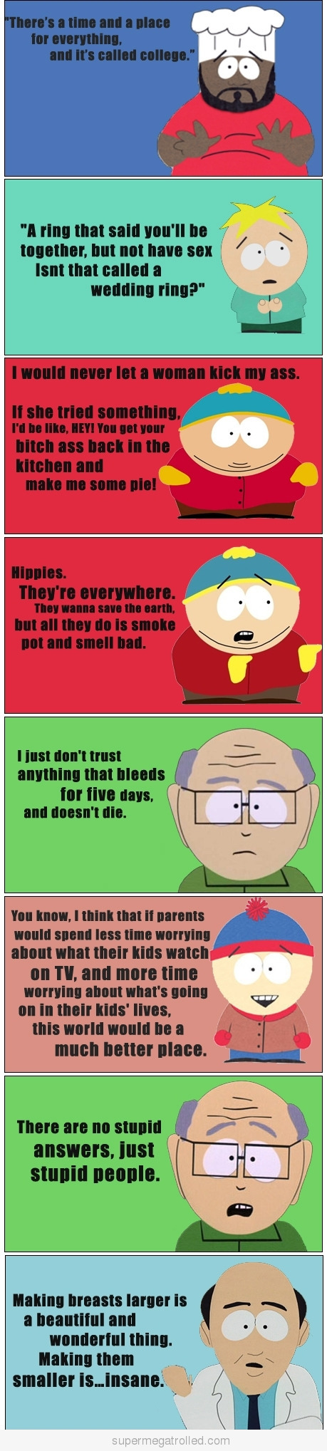 South park funny quotes