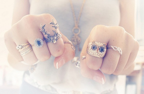 accessories, beautiful, girl, modern, rings - inspiring picture on Favim.com