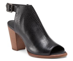peep toe leather booties
