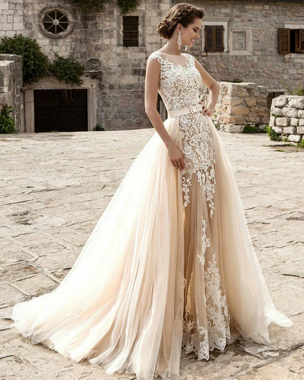 221149e0b Vestidos de novia color champagne - Foro Moda Nupcial - bodas.com.mx