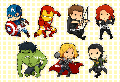 Chibis__avengers_by_shiftly-d4x9wpu_large