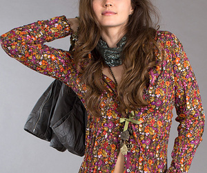 provence floral button-up