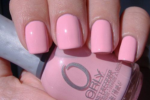 Light Pink Nails Tumblr Light