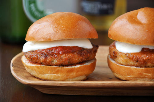 Just a Taste » Eggplant Parmesan Sliders