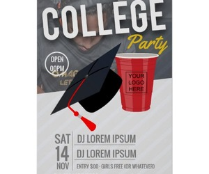 advert for college party