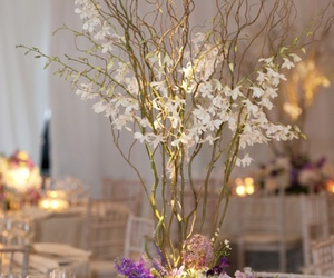 willows and white orchids