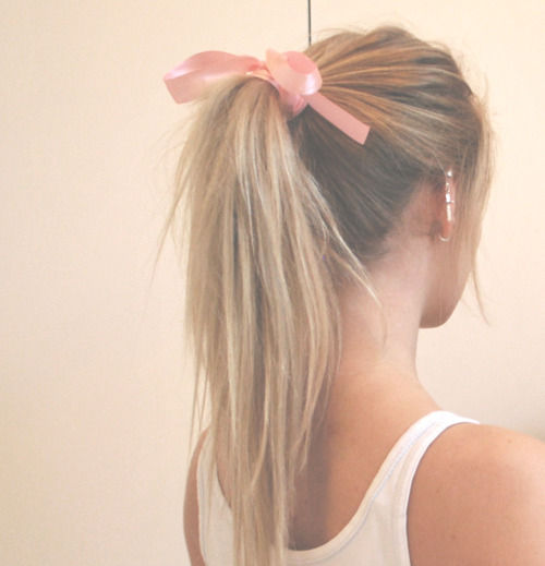 blonde, bow, fashion, girl, hair - inspiring picture on Favim.com