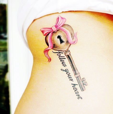 Picture Love Heart on Sweetly Key Tattoo   Love It So Much   We Heart It