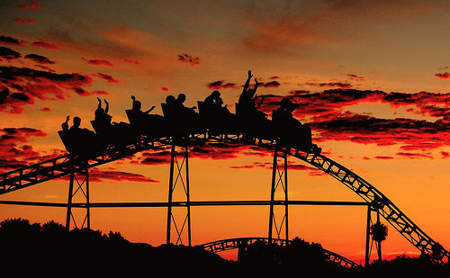amazing, amusement park, beautiful, clouds, friends - inspiring picture on Favim.com