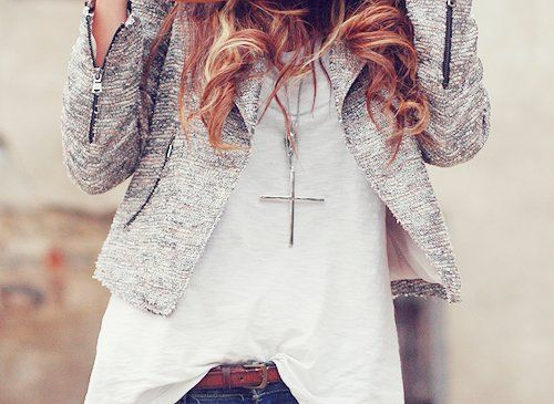 beautiful, blonde, clothes, hair, necklace - inspiring picture on Favim.com