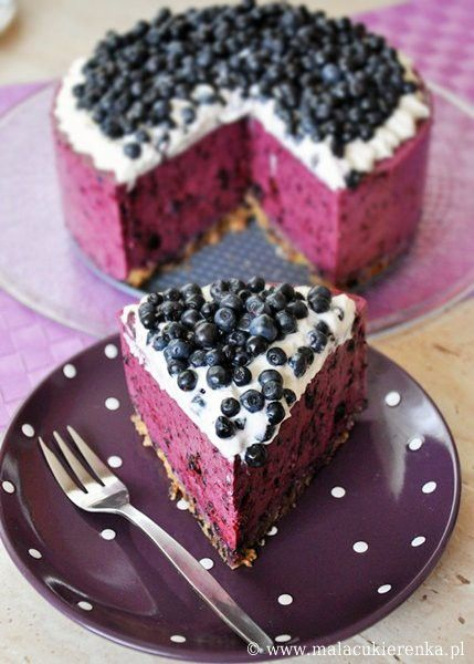 Food, food and more food / Blueberry cheesecake >> This is so pretty!