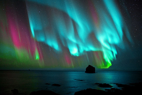 aurora borealis, color, colourful, colours, nature - inspiring picture on Favim.com