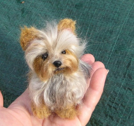 2809449949 f9278cda7e large NEEDLE FELTED DOG~ CUSTOM PET PORTRAIT~Yorkshire Terrier/Yorkie~ by Gourmet Felted~SCAMP~CUTE SIZE | Flickr   Photo Sharing!