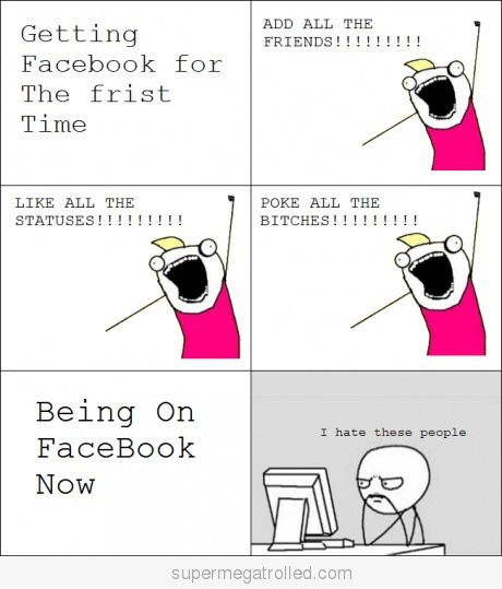 On Facebook: First Time Vs Now