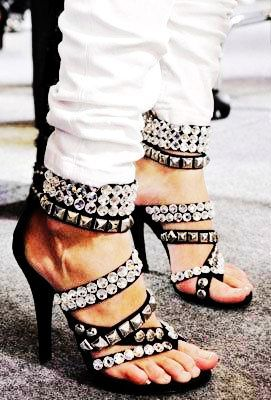 Sparkle Crystal Punk Sandals - Love It So Much
