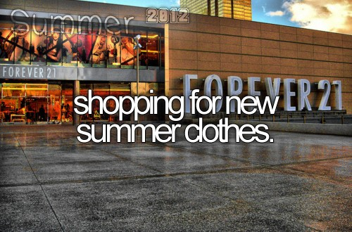 shopping summer clothes