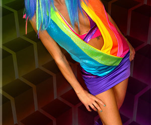 rainbow rave outfit