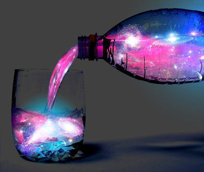 blue, hipster, juice, star, universe, whater - inspiring picture on Favim.com