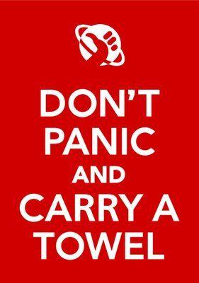 Não entre em pânico e carregue uma toalha!