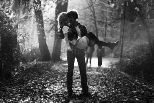 black and white, boy, couple, girl, in love - inspiring picture on Favim.com