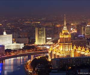 moscow russia city night