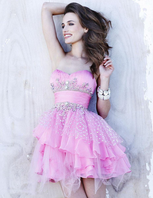 A-line-mini-length-sweetheart-dress-pink-sherri-hill-shorts-1046-sequins-applique-belt-43_large