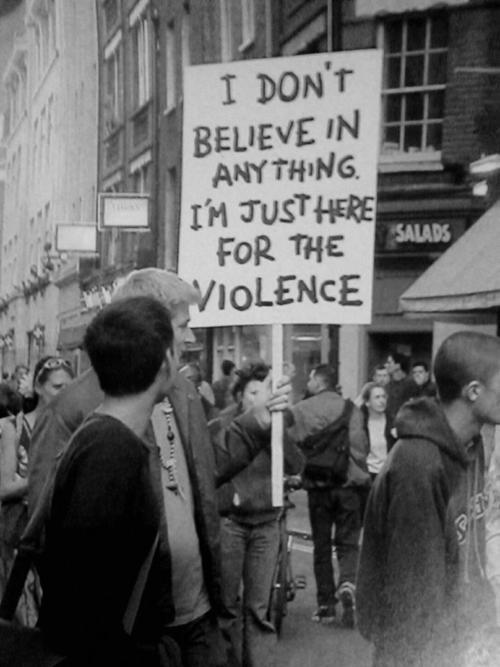 Violence... and so on ...