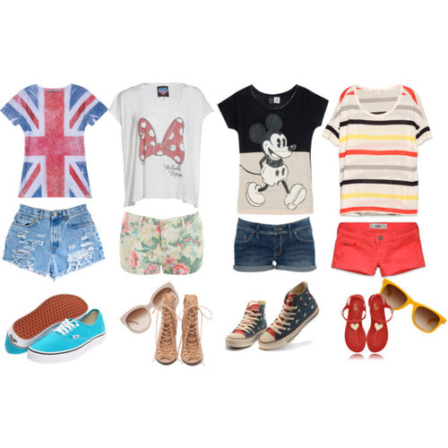 cute shirts and shorts! - Polyvore