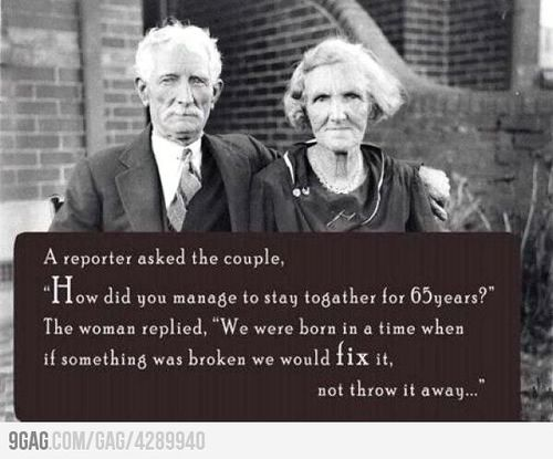 9GAG - Successful marriage advice
