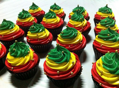 Rasta Cupcakes | Flickr - Photo Sharing!
