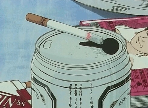 anime, cigarette, and grunge image