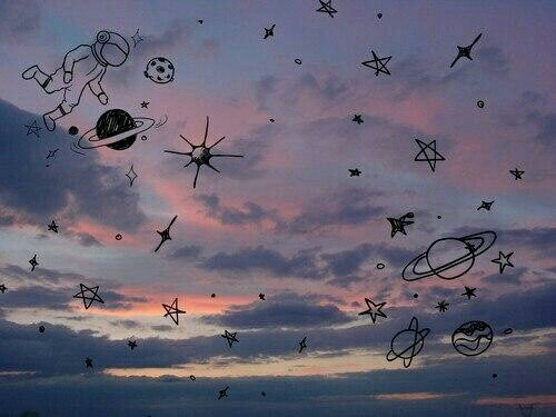 sky, space, and grunge image