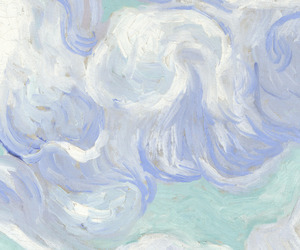 art, blue, and white image