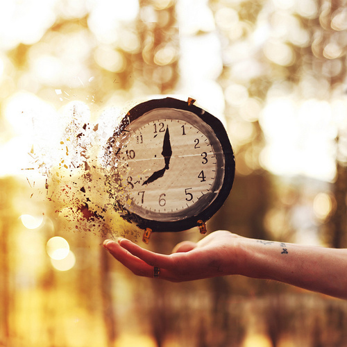 time, clock, and hand image