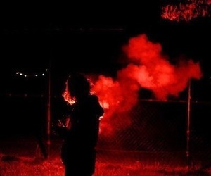 red, smoke, and aesthetic image