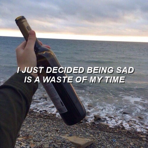alcohol, quote, and sad image