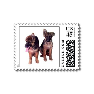 german shepherd puppies postage p172632622871949720bfjm9 400 large German Shepherd puppies Postage from Zazzle.com