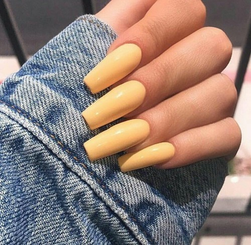 nails, yellow, and style image