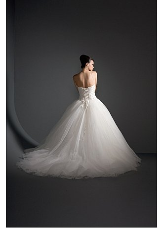 Buy Beautiful Elegant Exquisite Satin Ball Gown Wedding Dress In Great Handwork