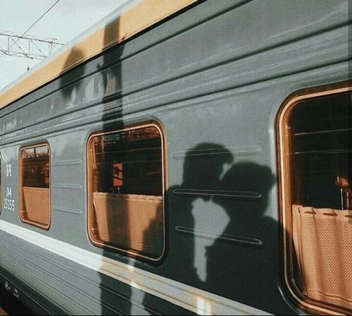 train, travel, and love image