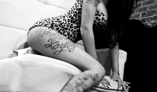 alternative, ass, black and white, dress, ink - inspiring picture on Favim.com