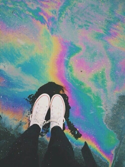 rainbow, grunge, and converse image